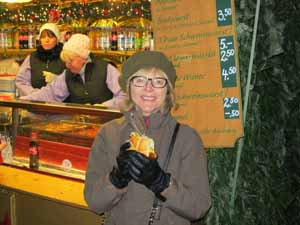 """Catherine Sweeney at Marienplatz Christmas Market in Munich, Germany"""