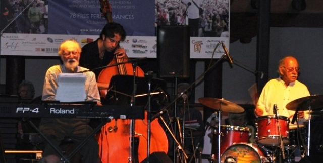 """Mose Allison performing at the 20122 New Mexico Jazz Festival in Santa Fe"""