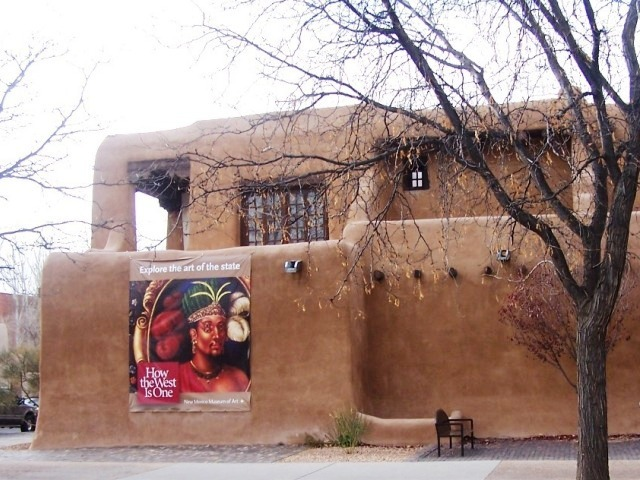 """Exterior of the New Mexico Museum of Art in Santa Fe, New Mexico"""
