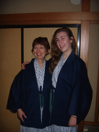 """Anna Mindess and her daughter Lila in Japan"""