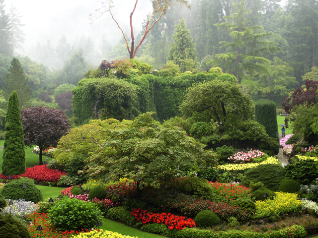 """The Butchart Gardens just outside of Victoria"""