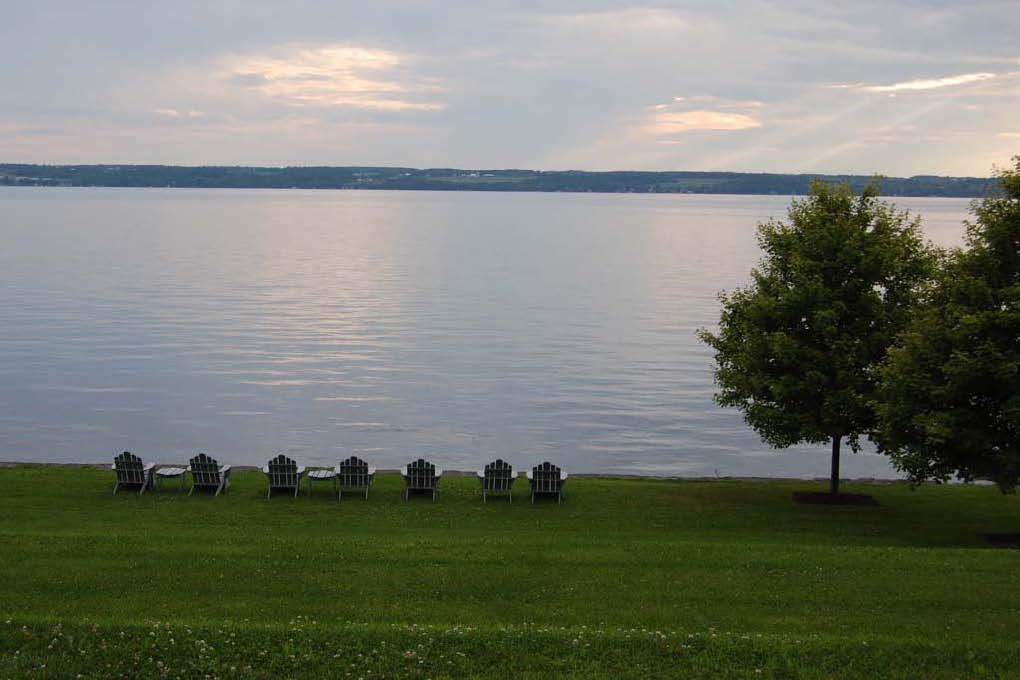 """Chairs on the lawn at the Finger Lakes, New York State"""