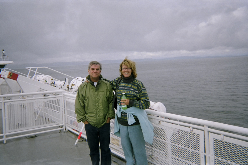 """Meg Pier and husband taking the ferry to Vancouver Island"""