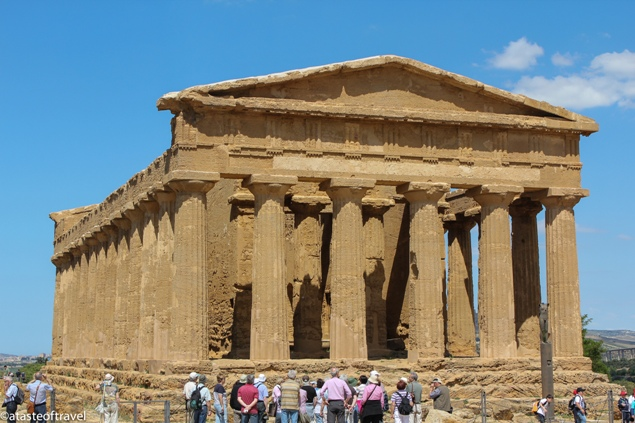 """The Temple of Concordia at Agrigento's Valley of the Temples, Sicily"""