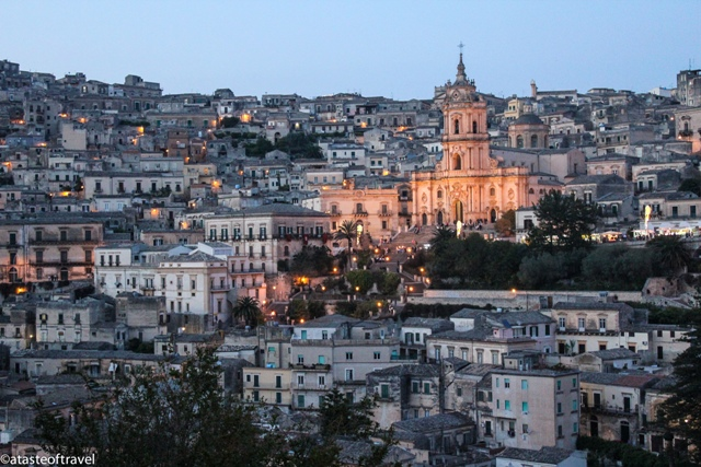 """Modica at sunset, Sicily"""
