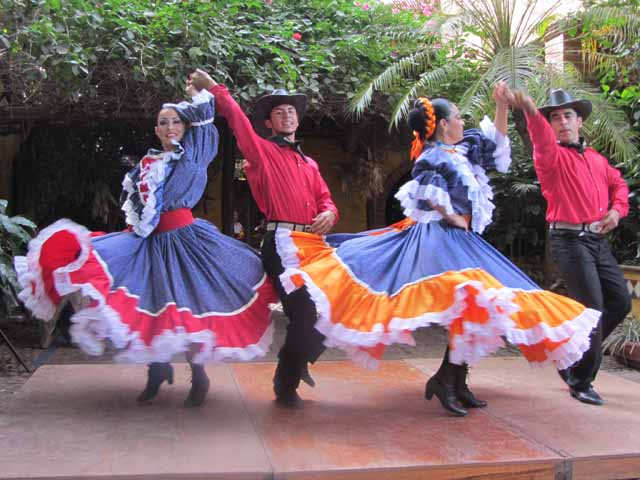 """Dancers in motion at El Meson Los Laureanos restaurant in El Quelite, Mexico"""