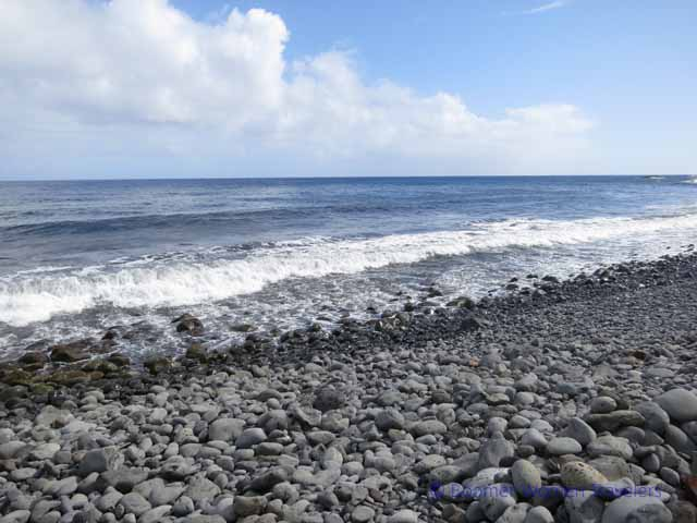 """A rocky beach on Maui's eastern coast"""