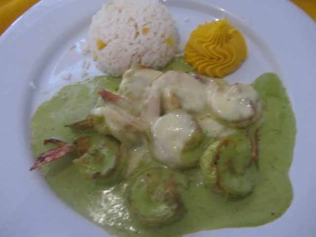 """Los Arcos Culichi shrimp in green sauce Credit-Deborah Grossman"""
