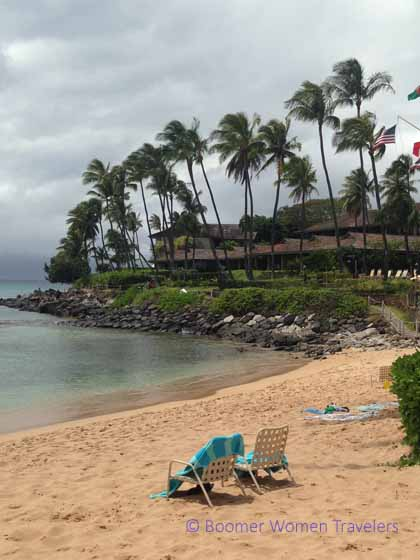 """Chairs on the beach at Napili Kai Beach Resort, Maui"""