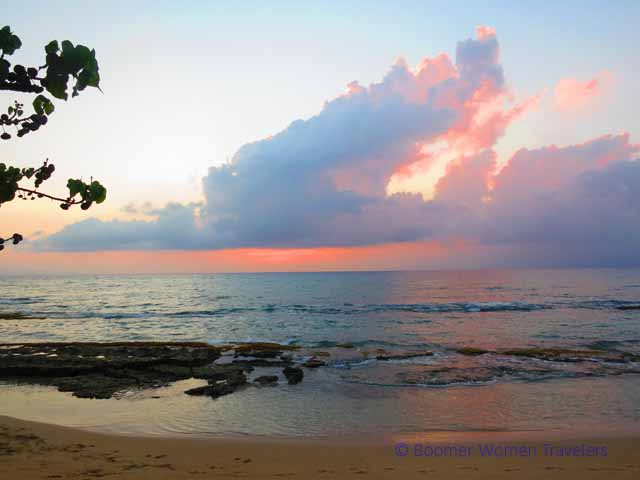 """Watching sunset at Honokowai Beach Park in Ka'anapali, Maui"""