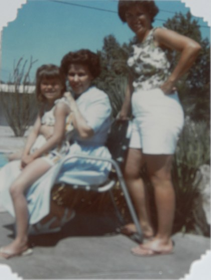 """Patti Maghamfar with her aunt and mom"""