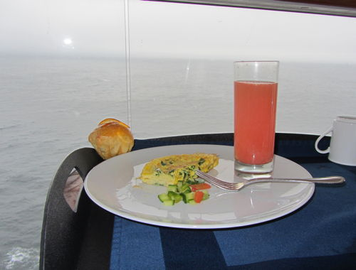 """Room service aboard the Celebrity Solstice"""