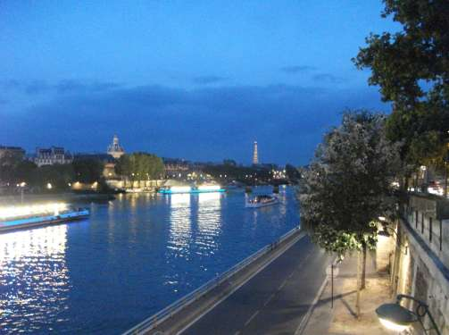 """the Seine River in Paris at night"""
