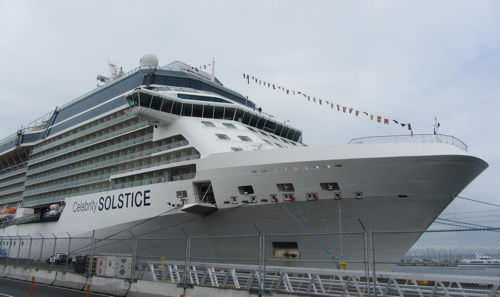 """Celebrity Solstice at port"""