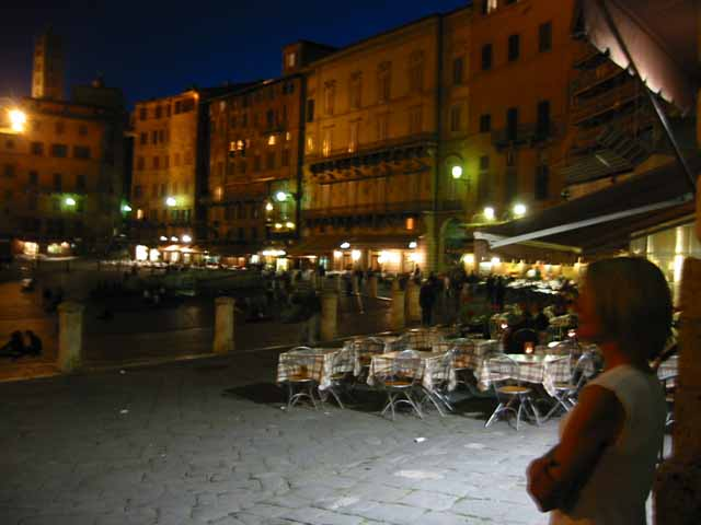 """Soaking up the ambiance of Siena, Italy at night"""