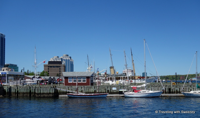 """Along the Halifax waterfront on the Harbourwalk"""