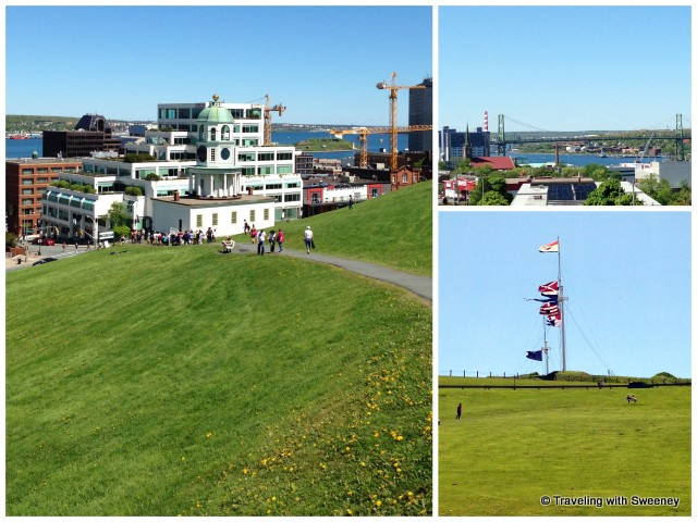 """Flags flying at the Halifax Citadel National Historic Site and views from the top"""