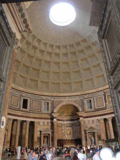 """The oculus inside the Pantheon"""