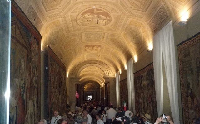 """Frescoes in the entrance to the Sistine Chapel"""