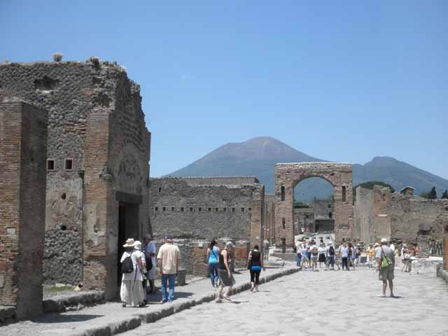"""Tourists at Pompeii"""