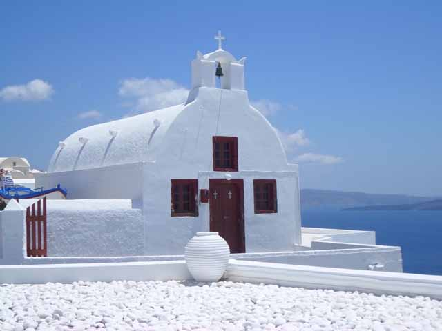 """Church in Santorini"""