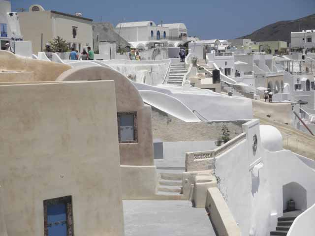 """A view in the town of Oia, Santorini"""