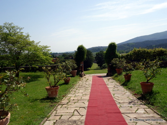 Rolling out the red carpet for guests at Villa Buonvisi in Lucca