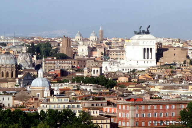 A hilltop view of the grandeur of Rome