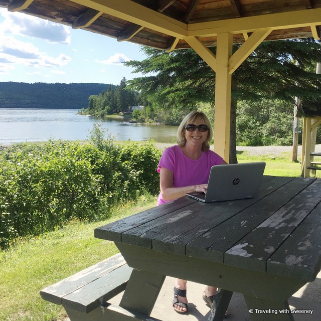 What an office! Staying social at beautiful Lac-Témiscouata in Quebec