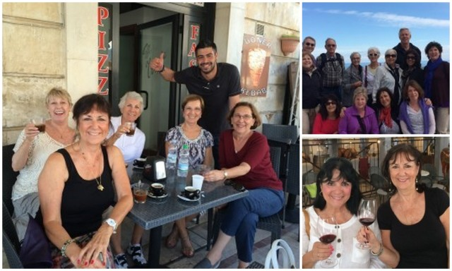 "Victoria De Maio and friends enjoying ""la dolce vita"" in Italy"